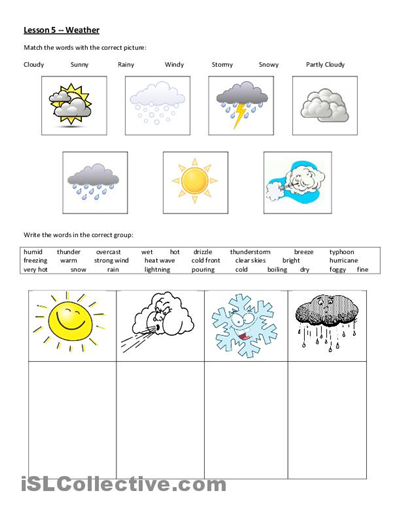 weather worksheet free esl printable worksheets made by teachers kid friendly learning. Black Bedroom Furniture Sets. Home Design Ideas