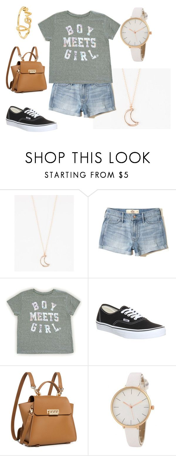 """""""Boy Meets Girl"""" by beccascurls ❤ liked on Polyvore featuring Full Tilt, Hollister Co., Vans, ZAC Zac Posen and Sydney Evan"""