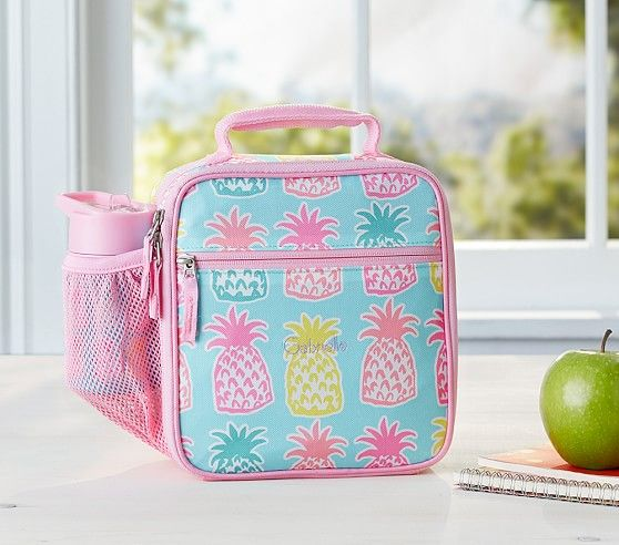 8aafe1bee2f2 Mackenzie Aqua Pineapple Lunch Bag   Pottery Barn Kids   wishlist ...
