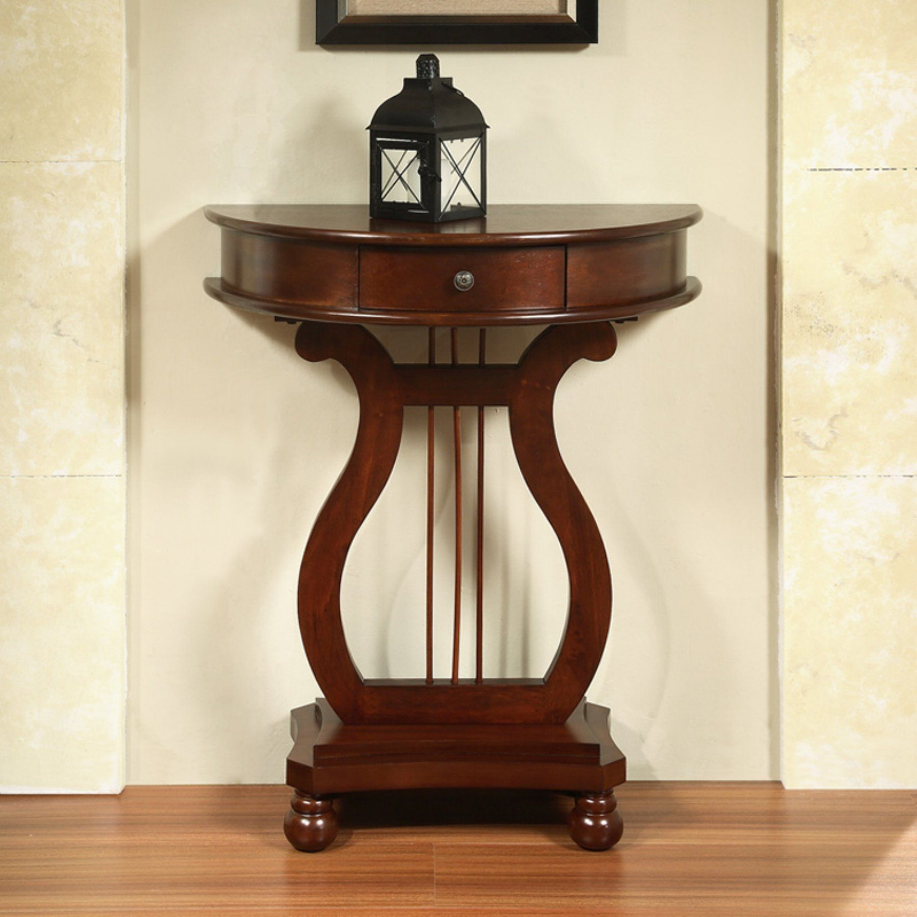 Best All Things Cedar Half Moon Harp End Table Ly04 End 400 x 300