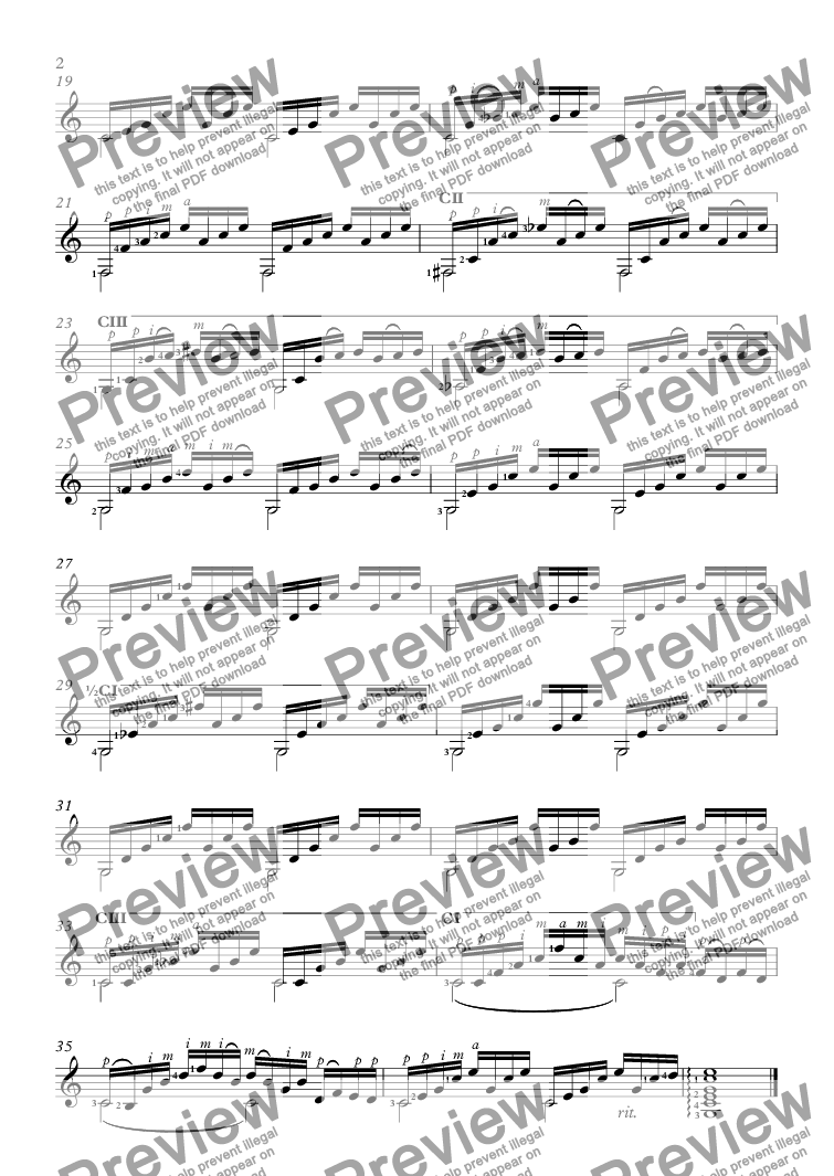 partition guitare bwv 846