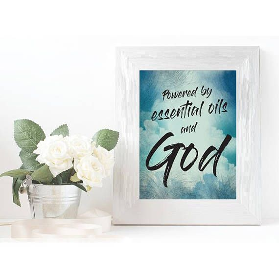 Powered by essential oils and God Printable Quote Quotes - quote spreadsheet template
