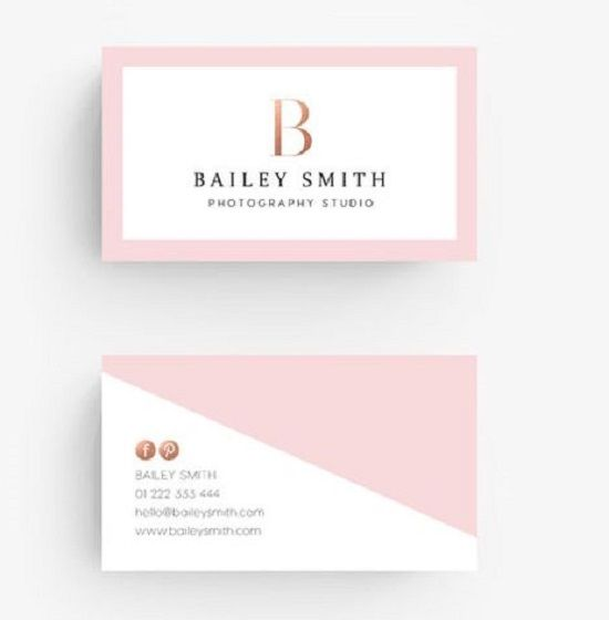 20 Creative And Unique Pink Business Cards Designs For Inspiration Business Card Maker Rose Gold Business Card Pink Business Card