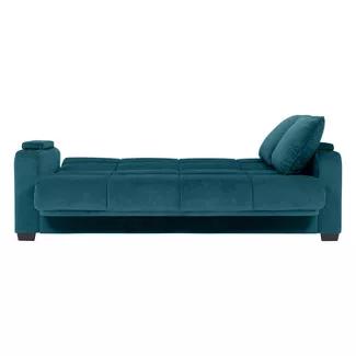 Convert A Couch Susan Velvet Convert A Couch Storage Arm Futon