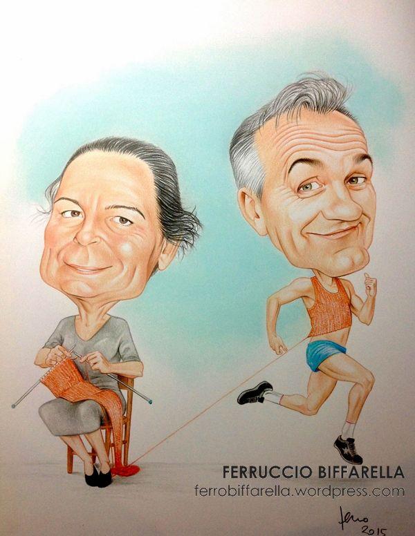 #caricatura-lavorare-a-maglia-corsa #Famiglia di Vignola#