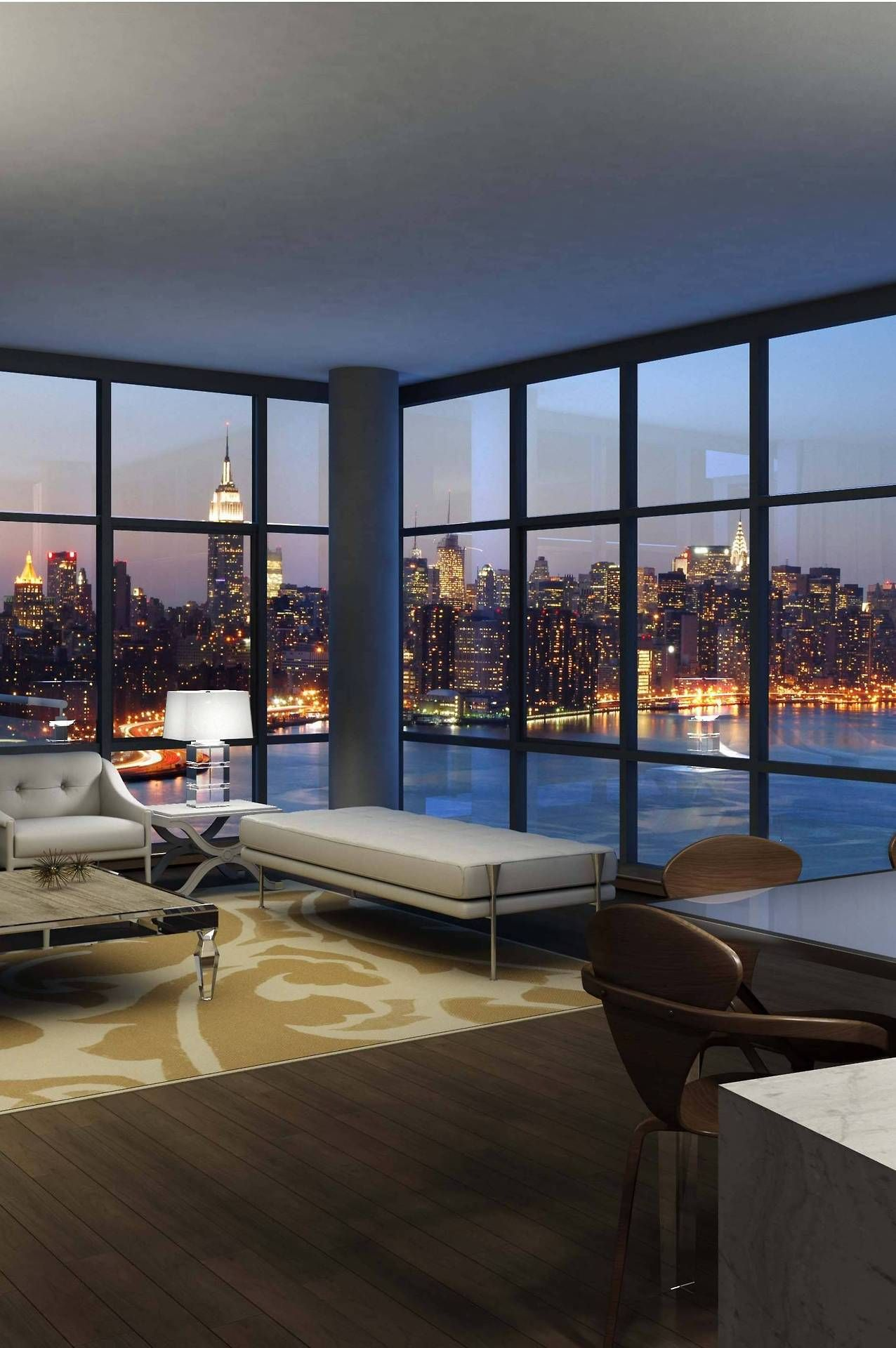 Floor To Ceiling Windows With A Bright Panoramic View I Love My Newyork Apartment My Dream Home Penthouse Living Dream Apartment