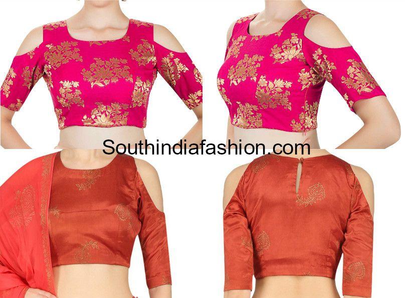 3411217bd13ab5 indian cold shoulder crop top designs for lehengas