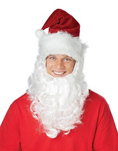 Fancy Santa Claus Getup Hat with Attached Beard Costume K... //. amazon.com/dp/B01FSI3POG/refu003dcm_sw_r_pi_dp_x_beKeybZW2XAJR  sc 1 st  Pinterest & Fancy Santa Claus Getup Hat with Attached Beard Costume K... https ...