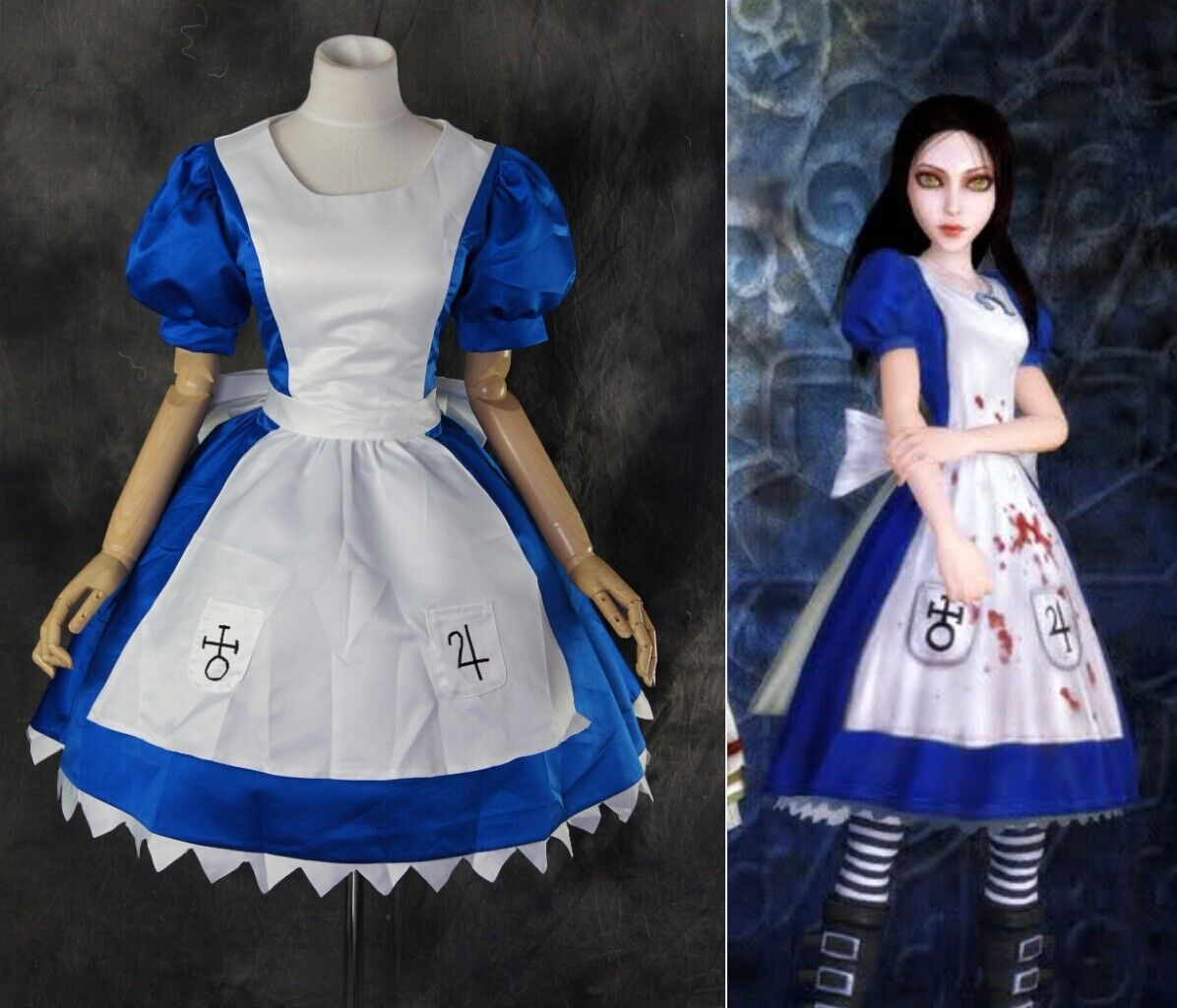 Kleid 170 H 170 M L Xl Xxl Alice Madness Maid Returns Classic Kleid