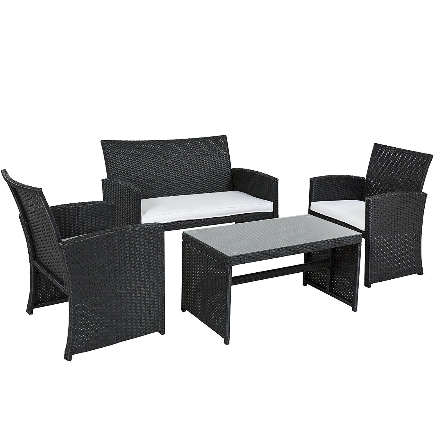 Best choice products outdoor garden patio pc cushioned seat black