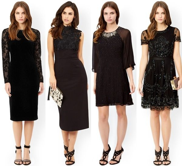 Wedding guest black dress