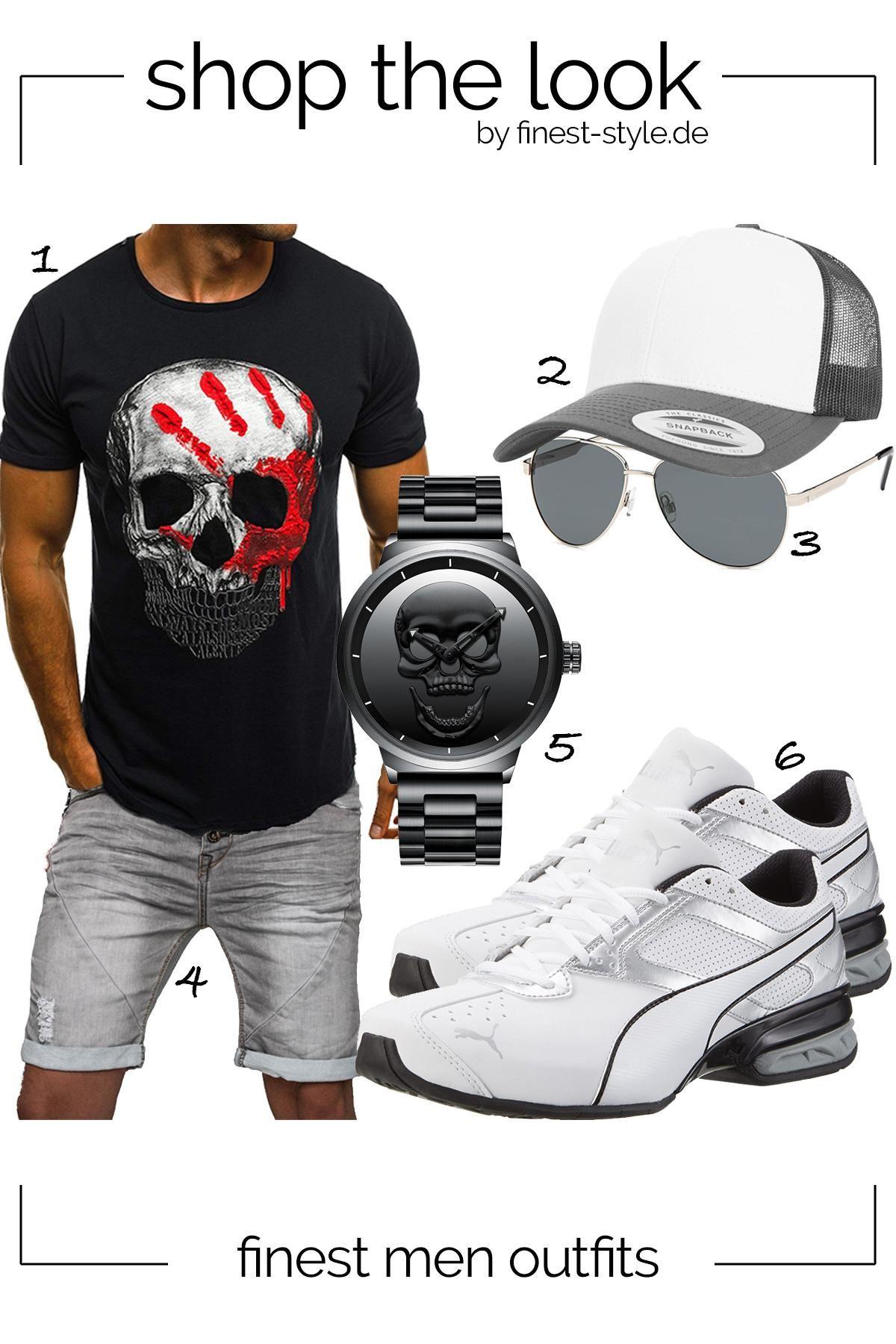 Top modernes Outfit für Männer mit Einzelteilen von
