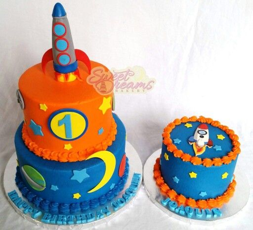 Awesome Outer Space 1St Birthday And Smash Cake Made By Sweet Dreams Funny Birthday Cards Online Sheoxdamsfinfo