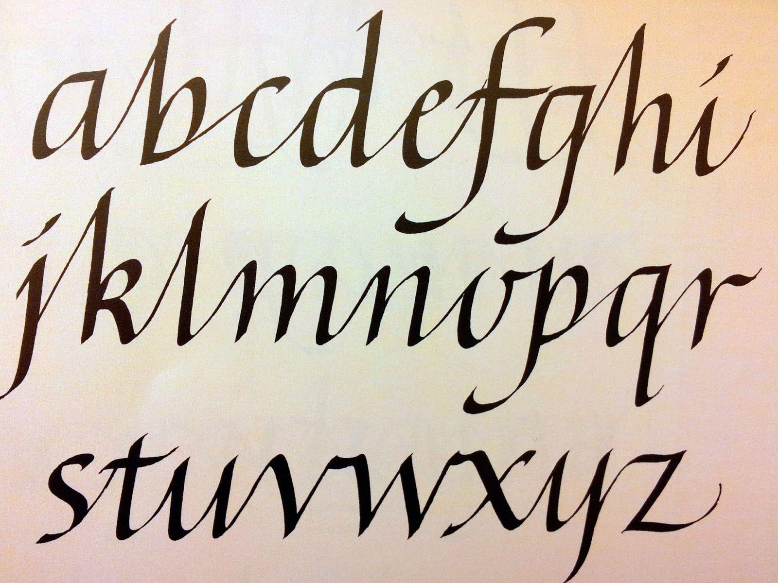 Cursive Italic Alphabet Style