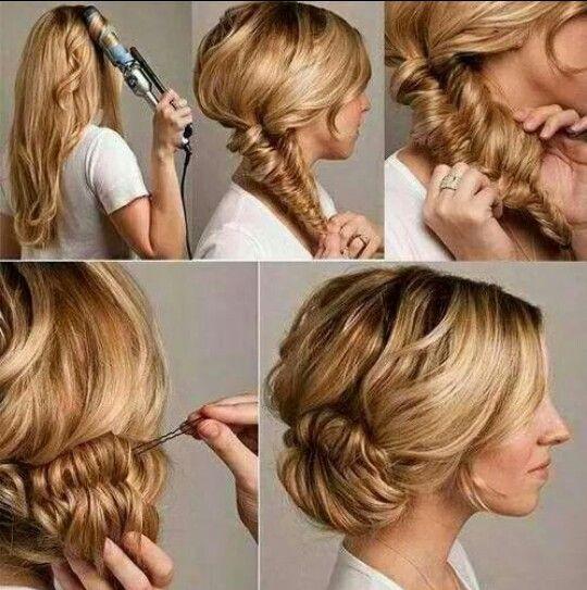 Turn a Fishtail braid into a messy bun.