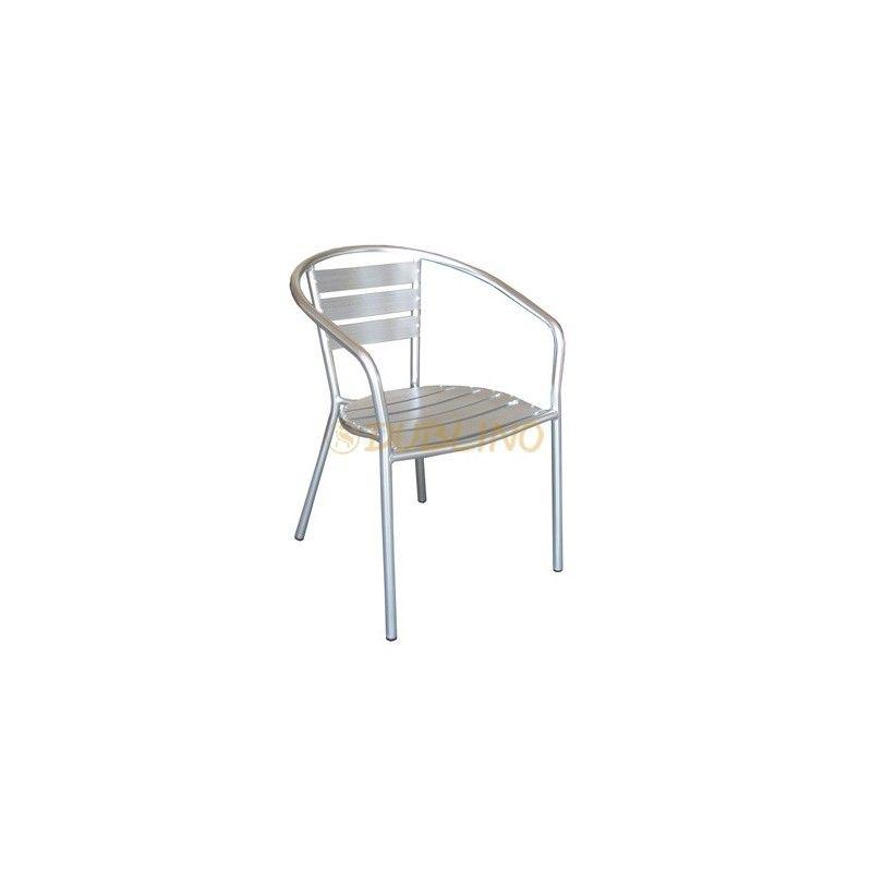 Alu Barhocker aluminiumstuhl mit alu lamellen garten sessel