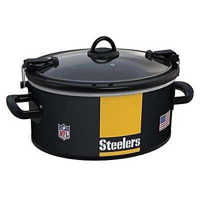 NFL Crock Pot Kitchen Accessories Steelers Football Slow Cooker Pittsburgh