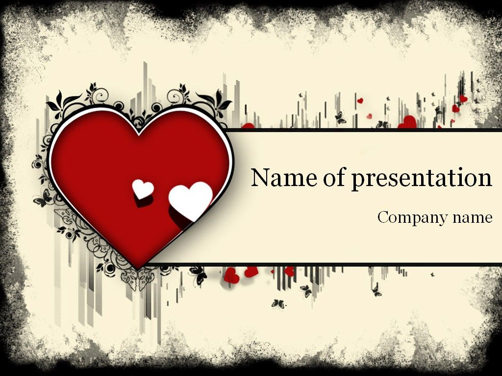 Heart powerpoint template templates pinterest template heart powerpoint template toneelgroepblik Gallery