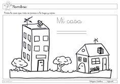 fichas la casa infantil - Buscar con Google | Escuela dominical pp ...