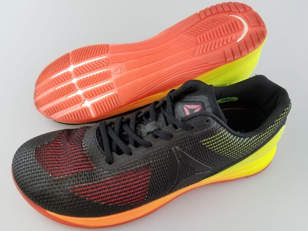 580aa65215 REEBOK Crossfit Nano 7 Black Yellow Red Orange Athletic Shoes Men's ...