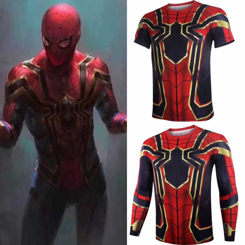 Spider Man Cosplay T Shirts Iron Spider Spiderman Shirt