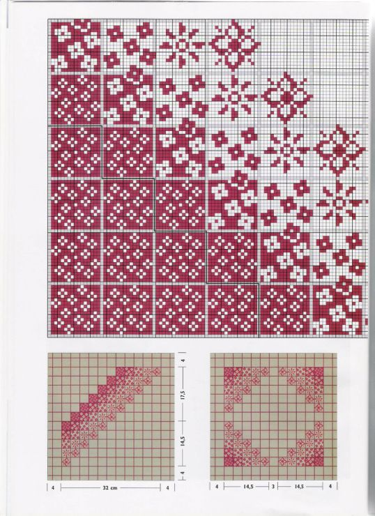 Cross stitch chart that could be used for filet crochet | 〰✿ 2 ...