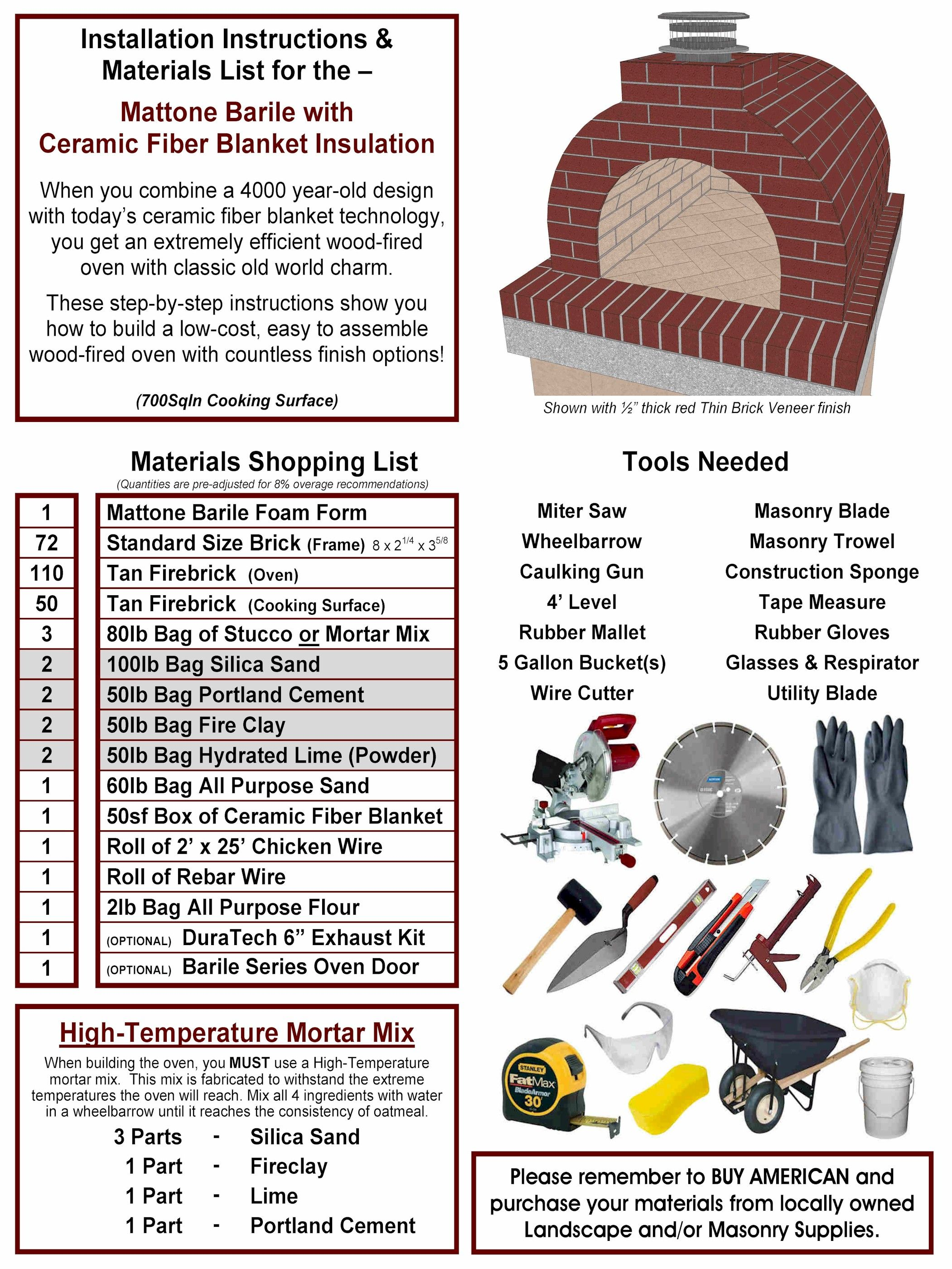 step by step instructions on how to build a wood fired brick pizza