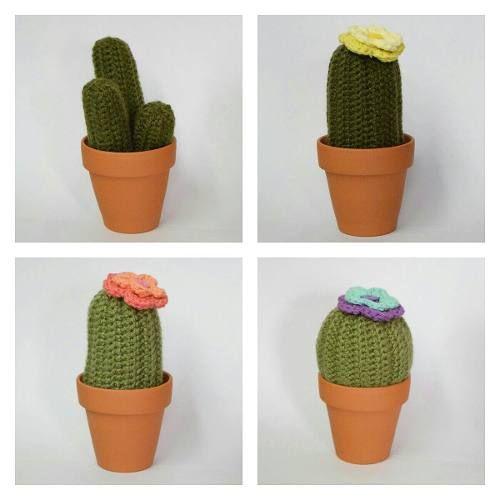 Cactus Tejidos Al Crochet - $ 720,00 en Mercado Libre | 500x500