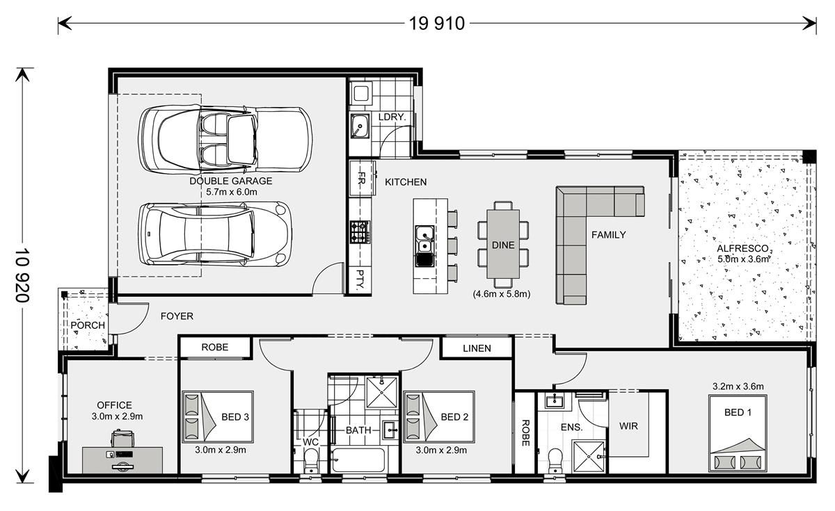 Floor Plan Melville Nq 187 Home Design House Design Floor Plans Latest House Designs