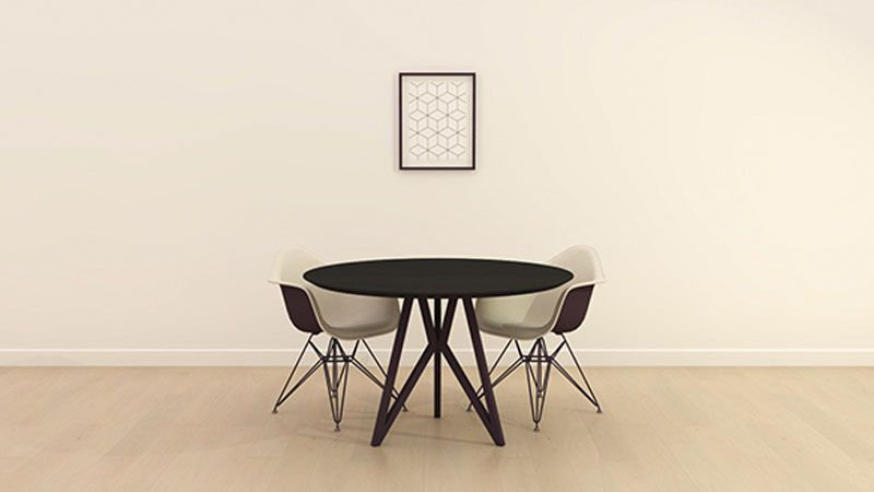 Ronde tafel stalen onderstel for the home