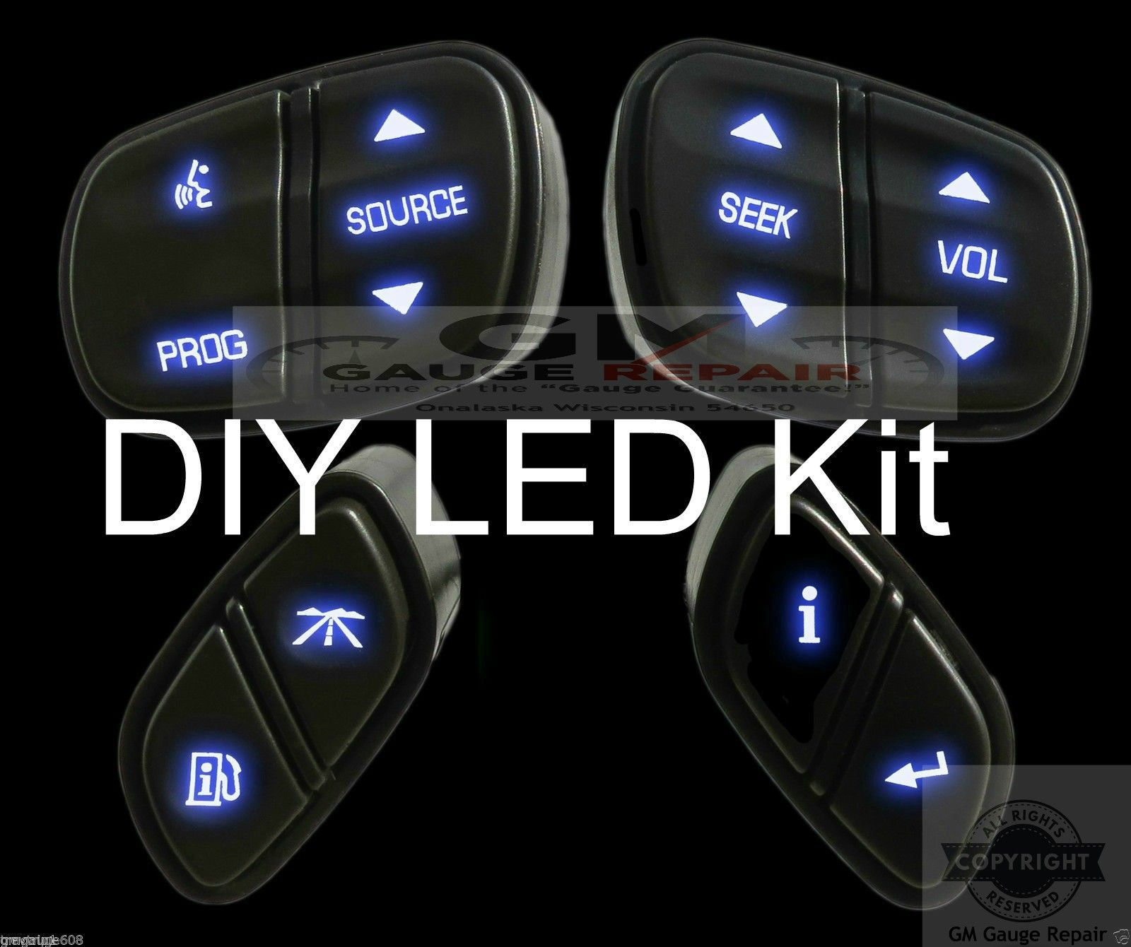 Our easy DIY bulb to LED conversion kit for GM steering