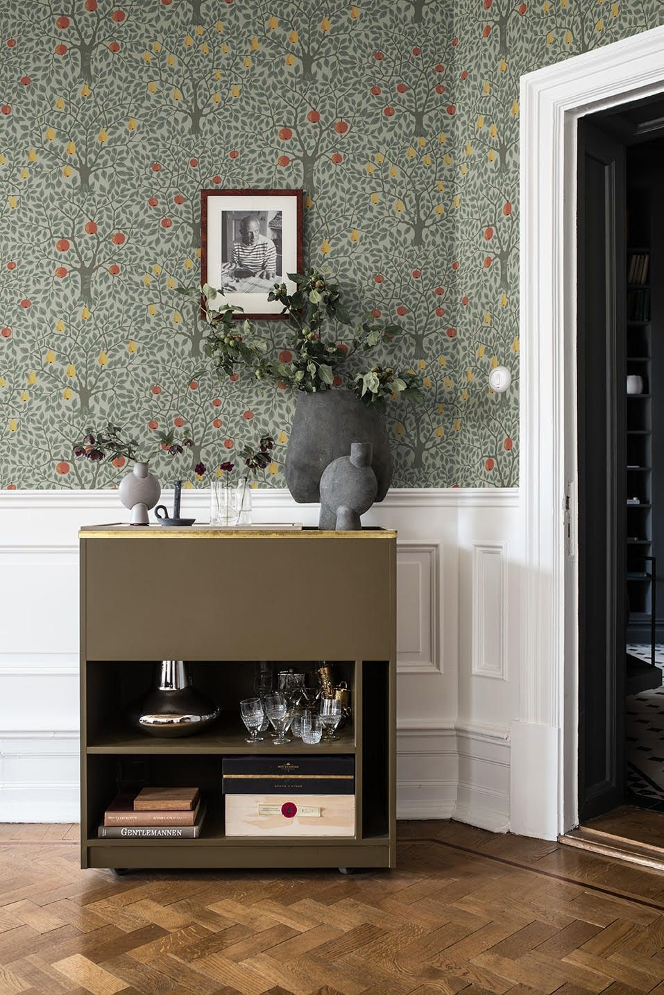 Tree Design Wallpaper Living Room: Bedroom Feature Wallpaper, Wallpaper