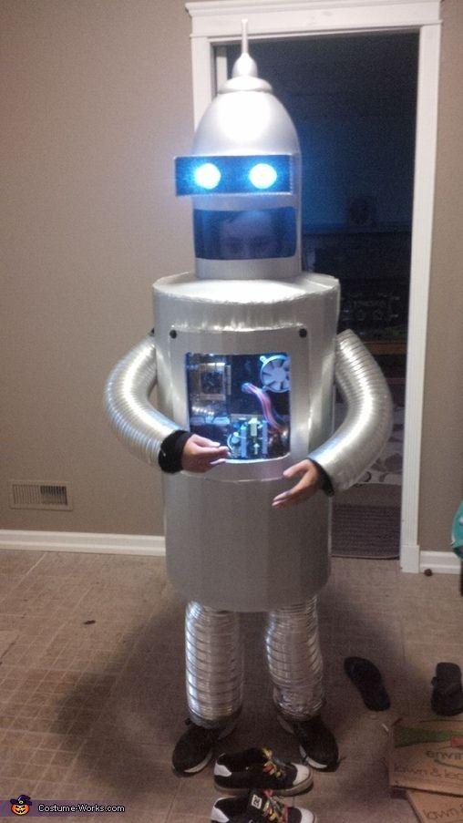 Robot - Halloween Costume Contest at Costume-Works.com & Kids Cardboard Robot Costume DIY   Pinterest   Cardboard robot ...