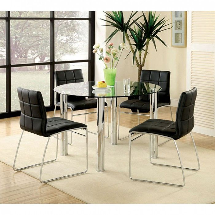 Round Dining Table Kona I Collection Cm8320t Round Dining Table Sets Glass Round Dining Table Glass Dining Table Set