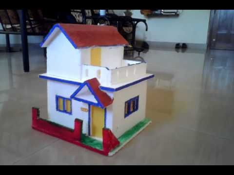 Model Of House Using Thermocol