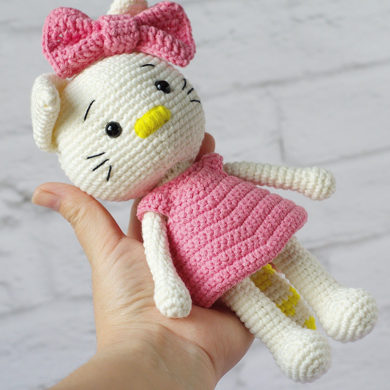 Crochet plush soft stuffed cat kitty animal toy, newborn