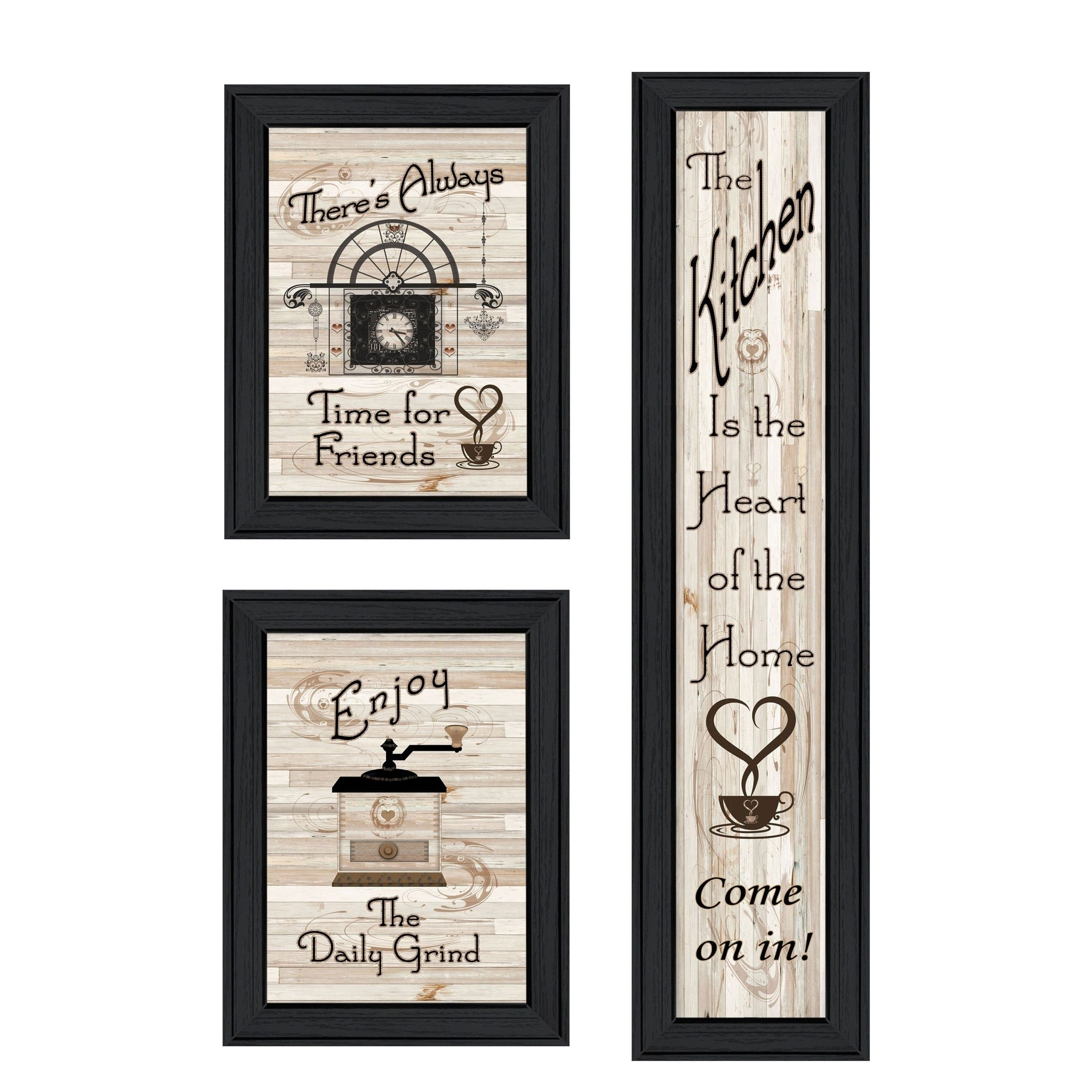 The Kitchen Collection I 3 Piece Vignette By Millwork Black Frame Traditional Quotes And Sayings 3 Piece Trendy Decor Kitchen Collection Framed Wall Art
