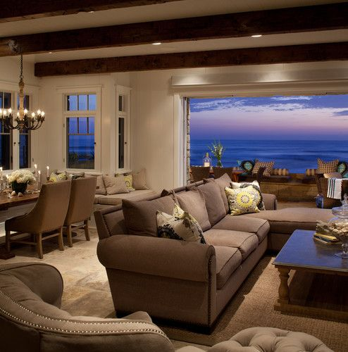 Del Mar, Beach Home Contemporary Living Room    Gives This Beach Home A Warm