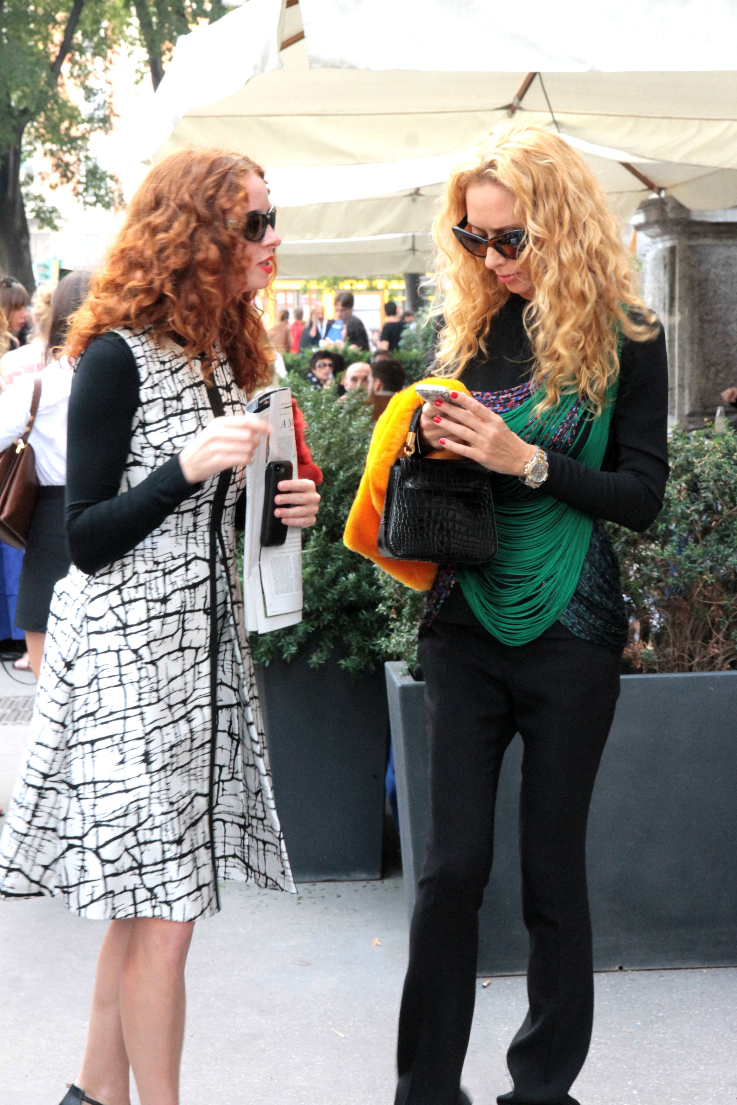 Milano Fashion Week SS15 - www.sarispazio.com Street Fashion Armani ...