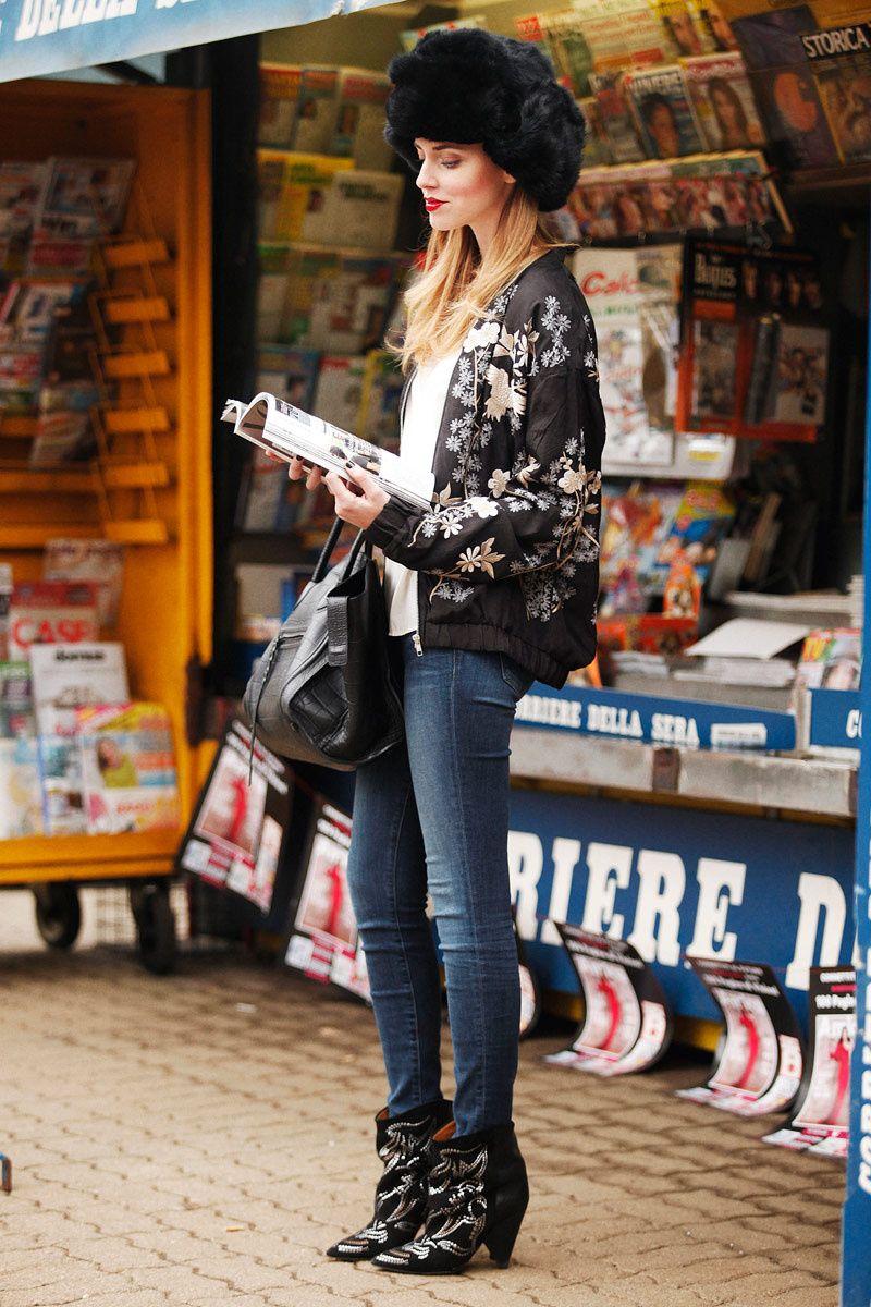 Chiara Ferragni, autora de The Blonde Salad, en 7días/7looks: Jeans de J Brand