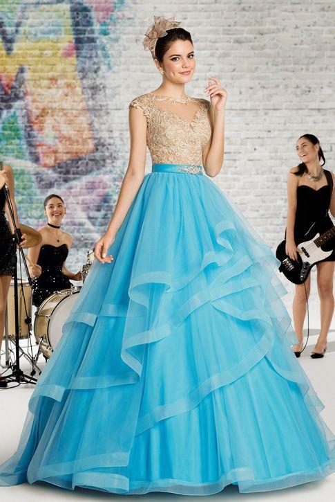 3758de2249 Vestido de debutante London Street 18 Azul ou Preto 2 em 1   Vestido de 15  anos curto com saia removível  Vestido curto com saia de tule rodada com ...