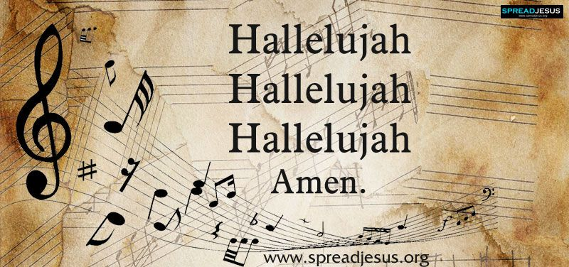 Hallelujah Hallelujah Hallelujah Amen.Song Lyric (With