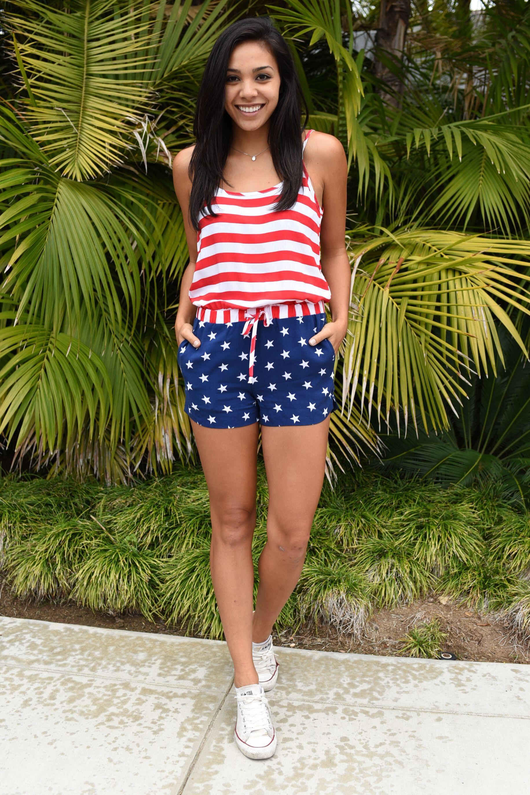 c4f76ba42baa Women s American Flag Romper