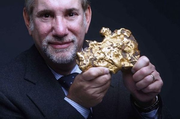 Gold Nugget Found In Backyard a man found an 8.2 pound gold nugget in his backyard in california