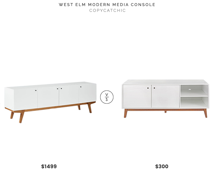Daily Find West Elm Modern Media Console Copycatchic Modern Media Console Mid Century Media Console Media Console