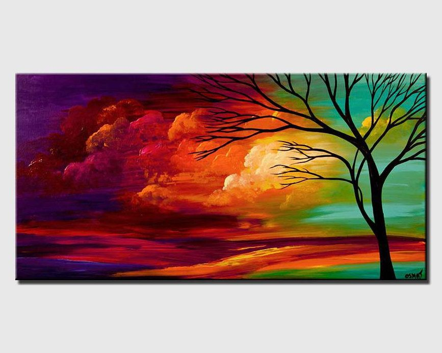 Landscape Painting Colorful Abstract