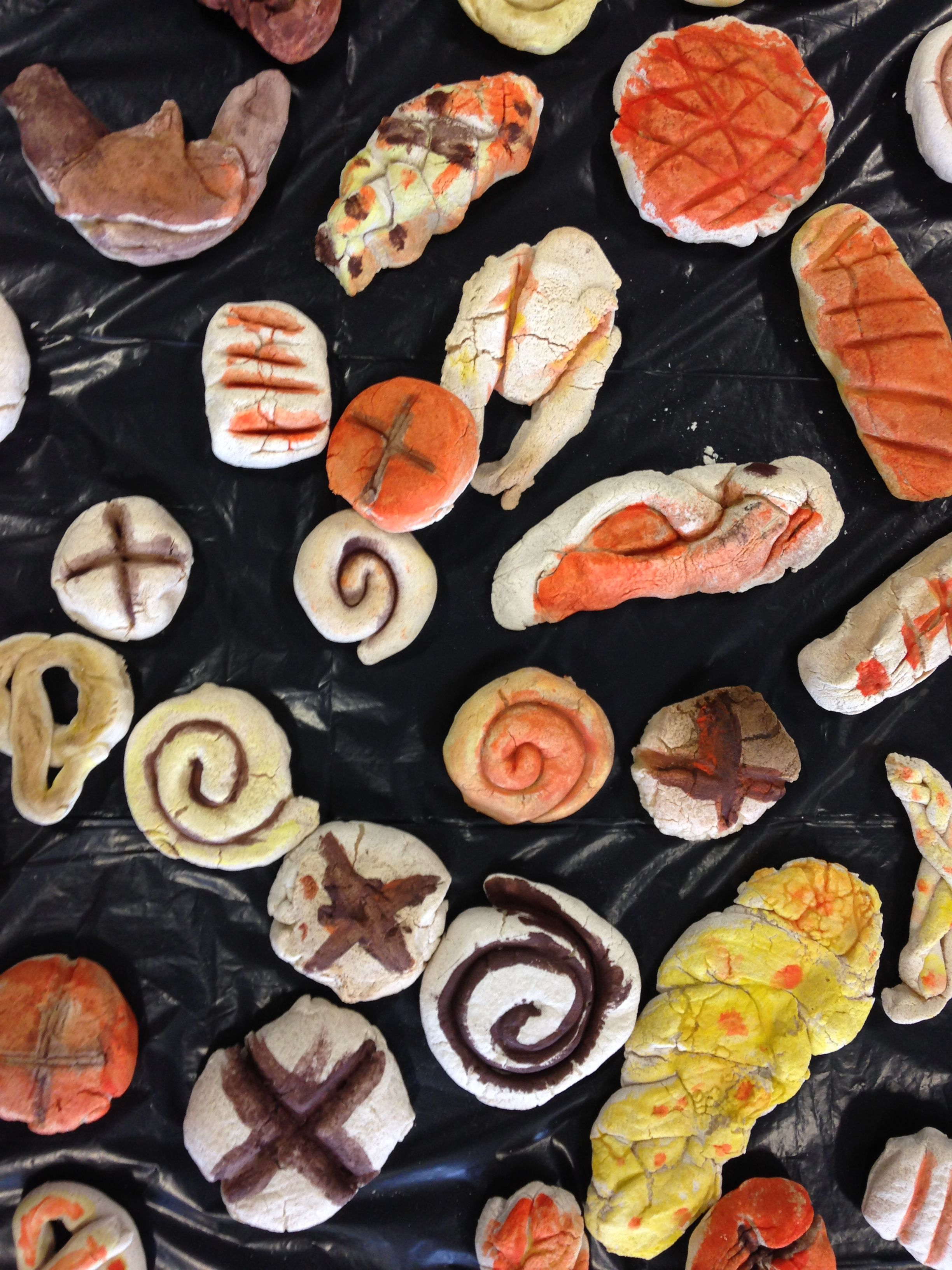 Pudding lane Bakery..close up of salt dough bread rolls..