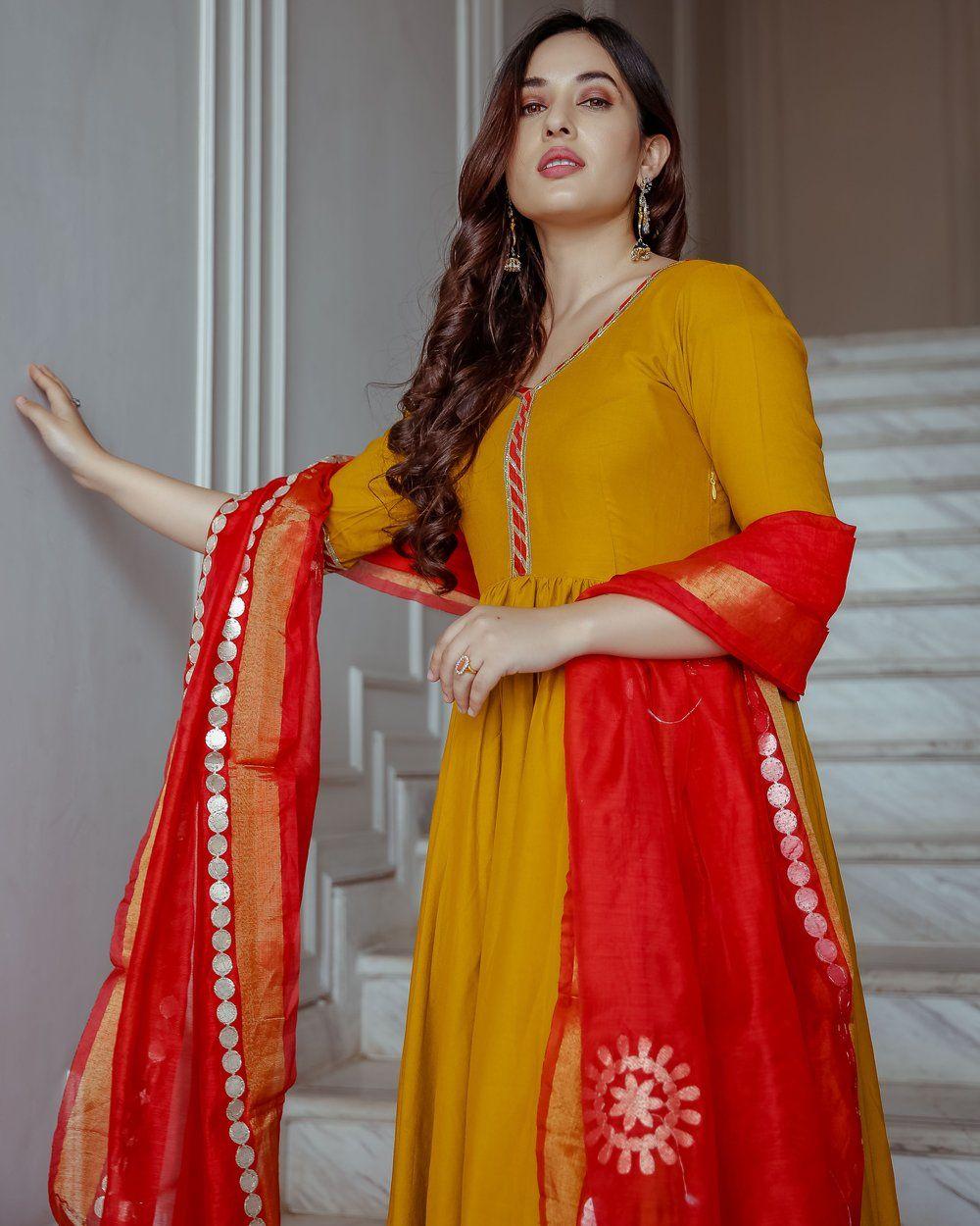 Black Dress Anniversary Gift For Wife Latest Beautiful Anarkali Kurti With Pant Rayon Anarkali Kurti With Pant Red Color Beautiful Dress