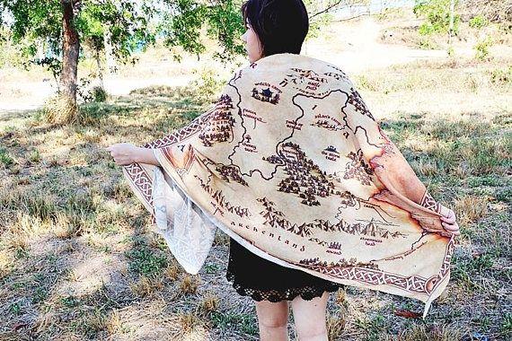 Narnia world map scarf and shawl need pinterest narnia narnia world map scarf and shawl gumiabroncs Images