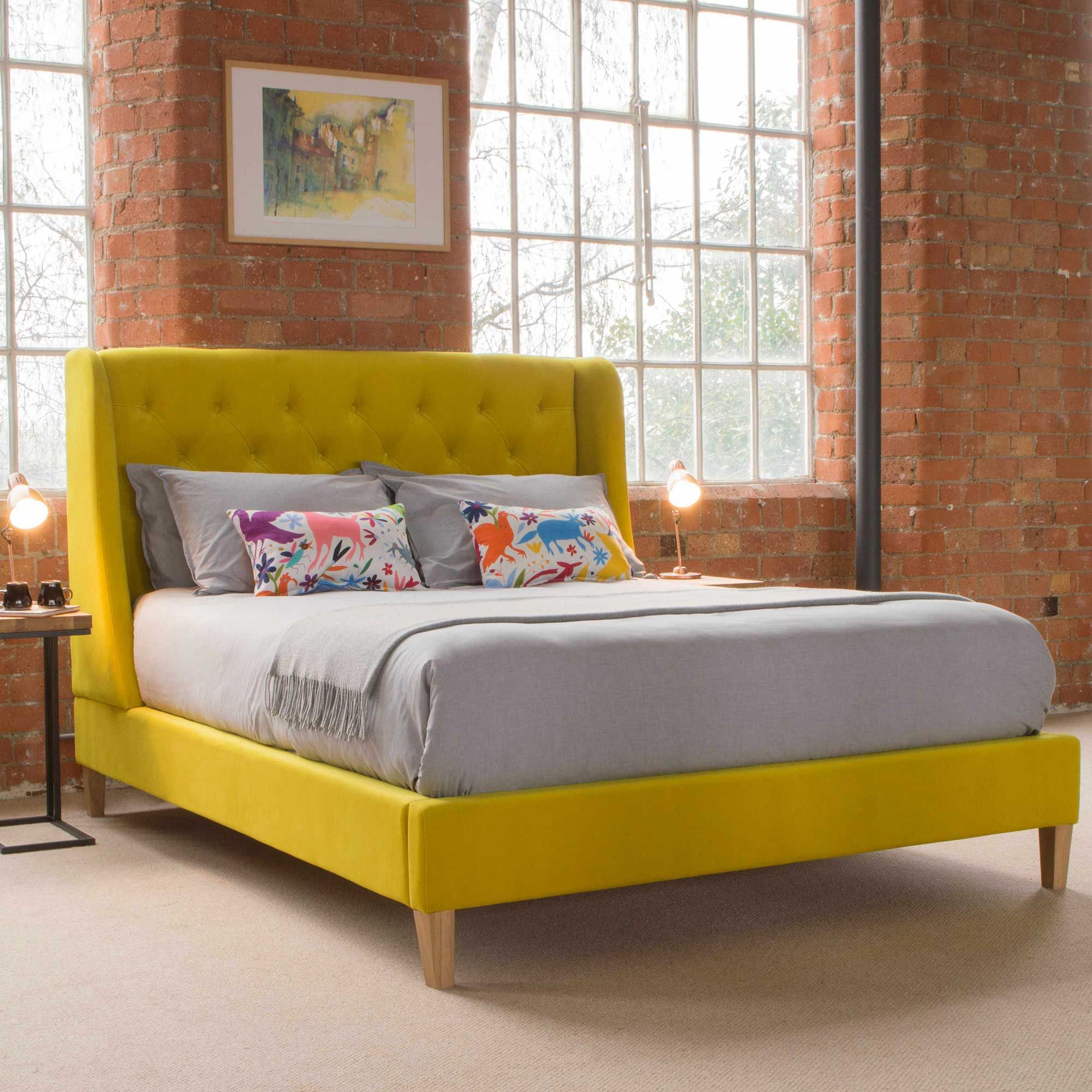 Juniper upholstered bedframe bedframes bedroom beautiful bedrooms bed frame glasgow cosy